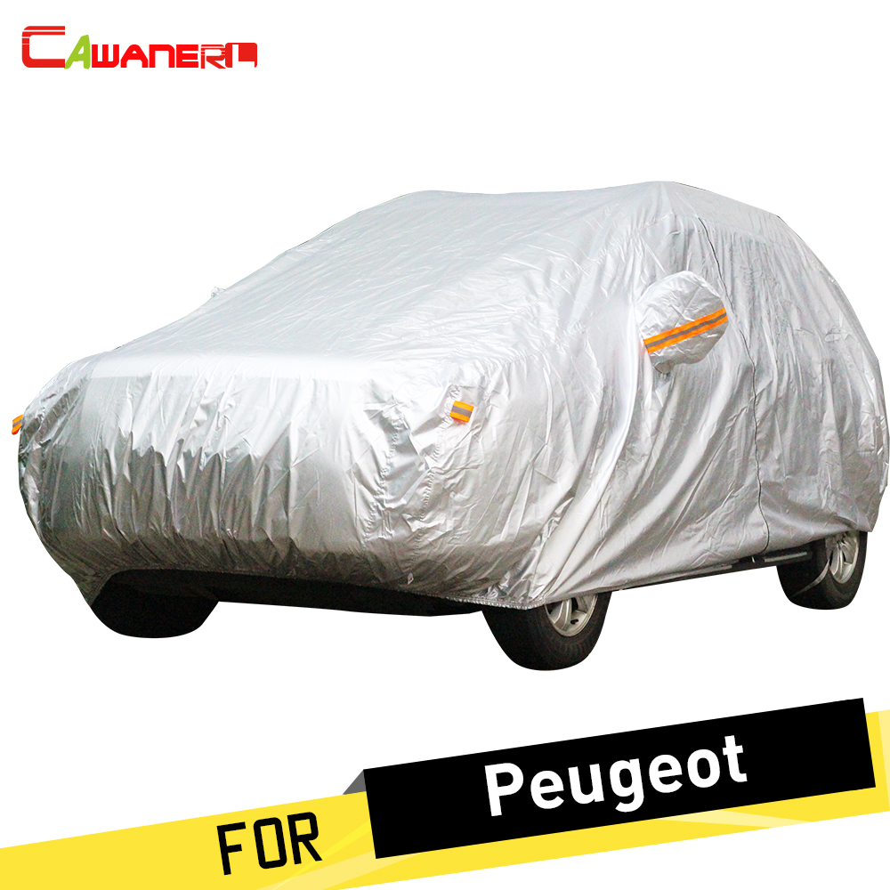 Cawanerl Full Car Cover SUV Outdoor Sun Snow Rain Protection Anti UV Dust Proof Cover For