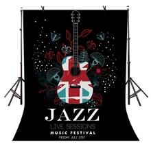 5x7ft Poster Backdrop JAZZ Music Festival Poster Photography Background and Photography Studio Backdrop Props 5x7ft blurred backdrop blur blurred peach blossom photography background and studio photography backdrop props