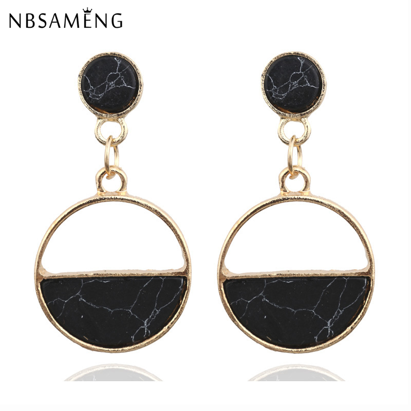 Ladies Fashion Jewelry Statement Alloy Square Earrings Vintage Dangle Drop Studs