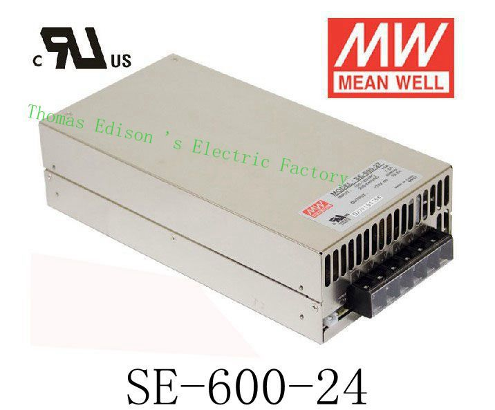 Original MEAN WELL power suply unit ac to dc power supply SE 600 24 600W 24V 25A MEANWELL