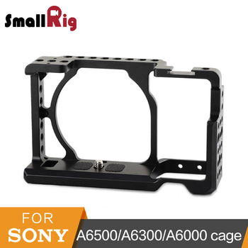SmallRig Camera Cage for Sony A6000/A6300/A6500 ILCE-6000/ILCE-6300/A6500/Nex-7 Aluminum Alloy Cage To Mount Tripod Monitor-1661