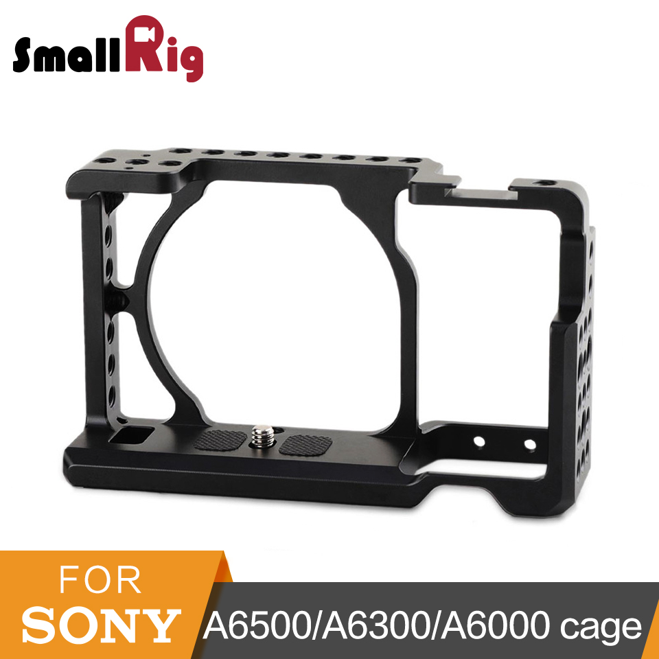 SmallRig Camera Cage for <font><b>Sony</b></font> A6000/A6300/A6500 ILCE-<font><b>6000</b></font>/ILCE-6300/A6500/Nex-7 Aluminum Alloy Cage To Mount Tripod Monitor-1661 image