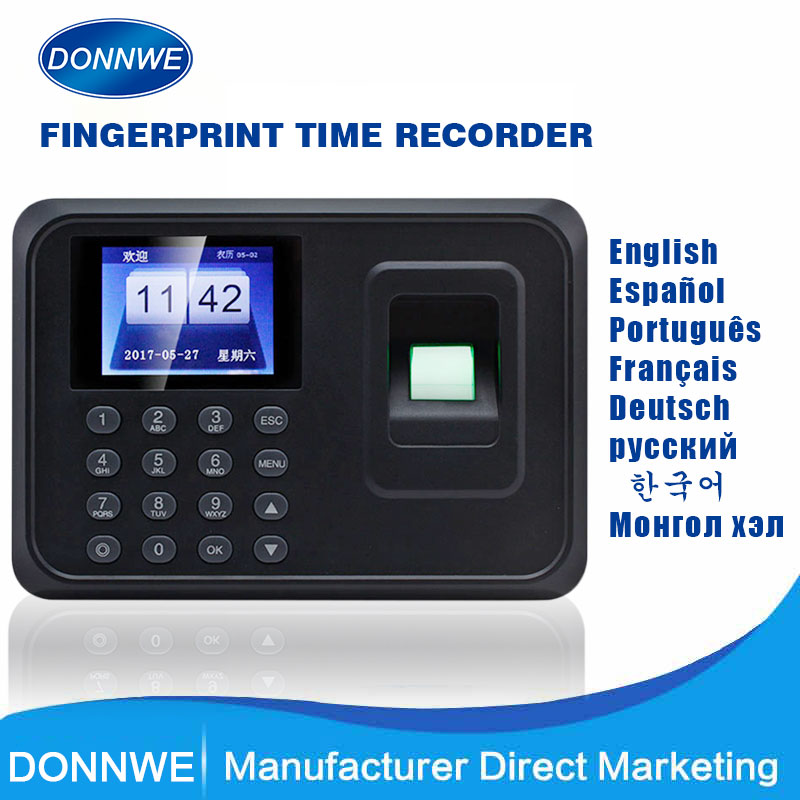 HOT SALE Donnwe F01 Biometric Fingerprint Time Attendance Clock Recorder & Access Control(China)