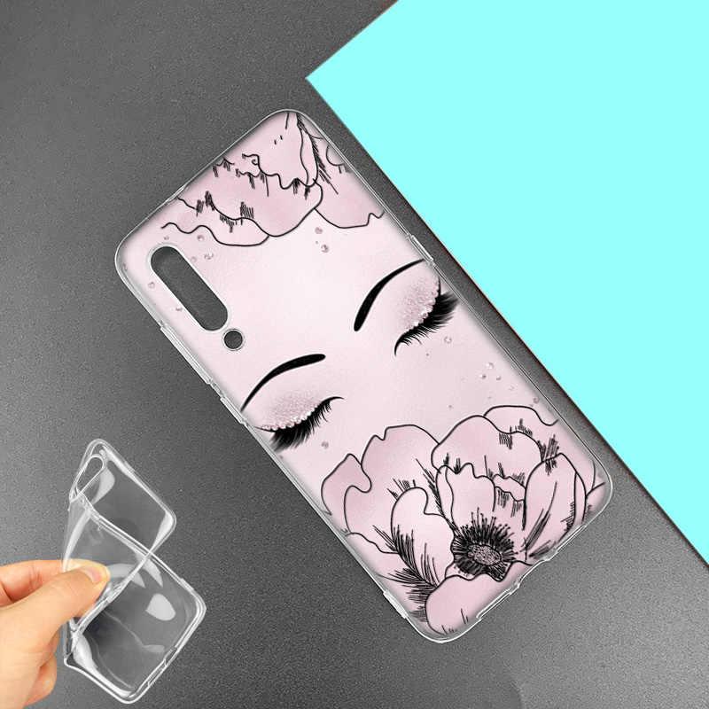 ピンクまつげプリントケース huawei 社 P20 P30 1080p スマート Z プラス 2019 P10 P9 P8 メイト 10 20 lite プロミニ 2017 シリコーン電話バッグキャパ