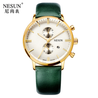 Switzerland Nesun Women's Watches Luxury Brand Citizen Quartz movement Watch Women Chronograph Wrist clock reloj hombre LN8601 4
