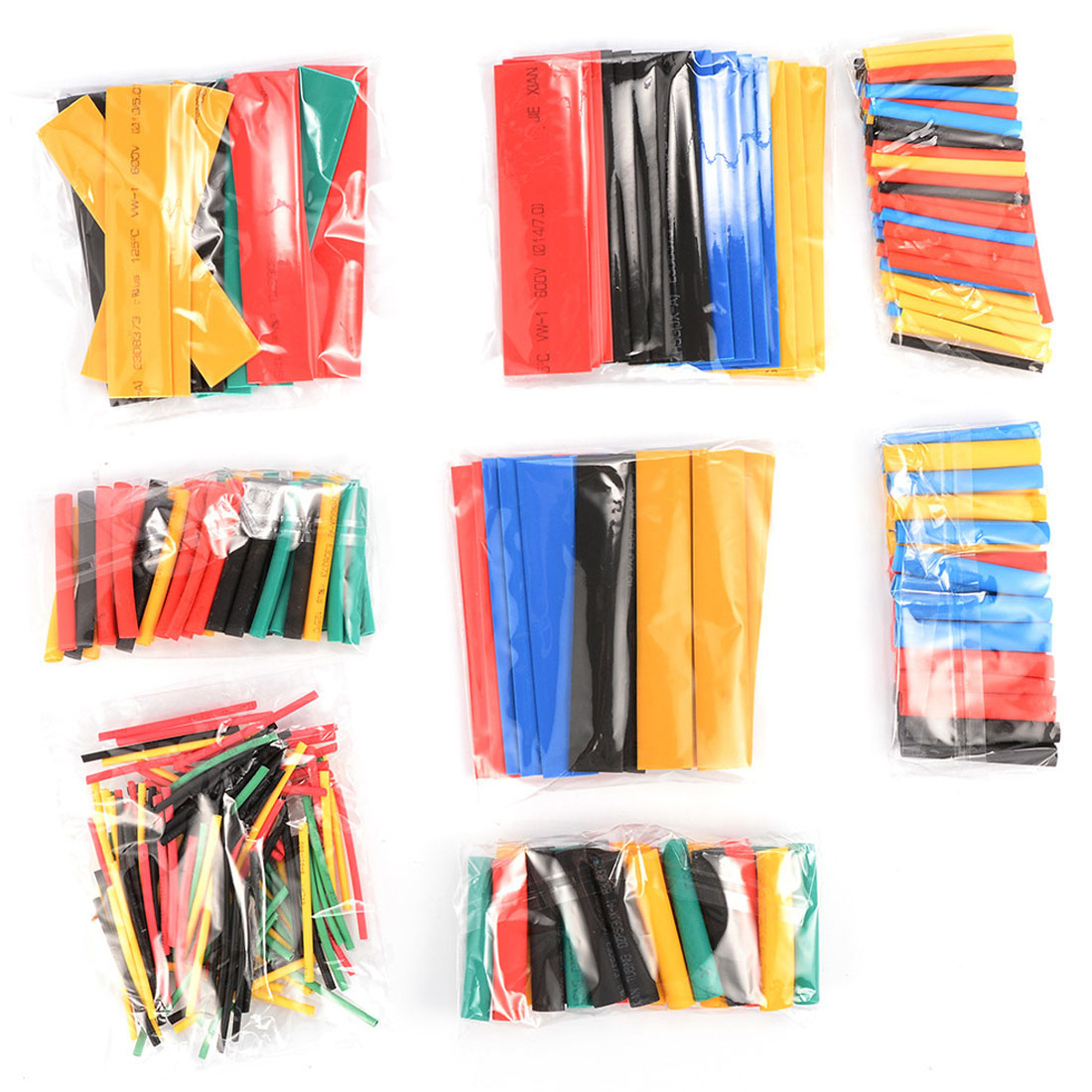 2:1 Halogen-Free Heat Shrink Tubing Tube 328Pcs 8 Sizes Multi Color Polyolefin Assortment Sleeving Wrap Tubes
