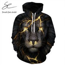 New Arrival Men/Women 3d Sweatshirt Crack Lion Print Autumn Hooded Tracksuits Couple Long Sleeves Hoodies Pullover Tops