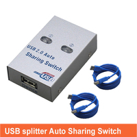 usb switch converter auto Sharing splitter  Computer Peripherals For 2 PC Computer Printer For Office Home Use usb2.0 hub