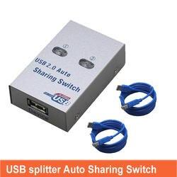 Usb принтер Автоматический коммутатор splitter 2 хостов доля один отправить два печати Поддержка кабелей любой USB interfac