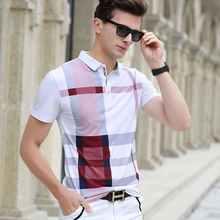 Męska koszulka Polo gorąca sprzedaż nowa, w kratę 2019 moda lato klasyczne casual bluzki z krótkim rękawem znane marki bawełna czaszki wysokiej jakości