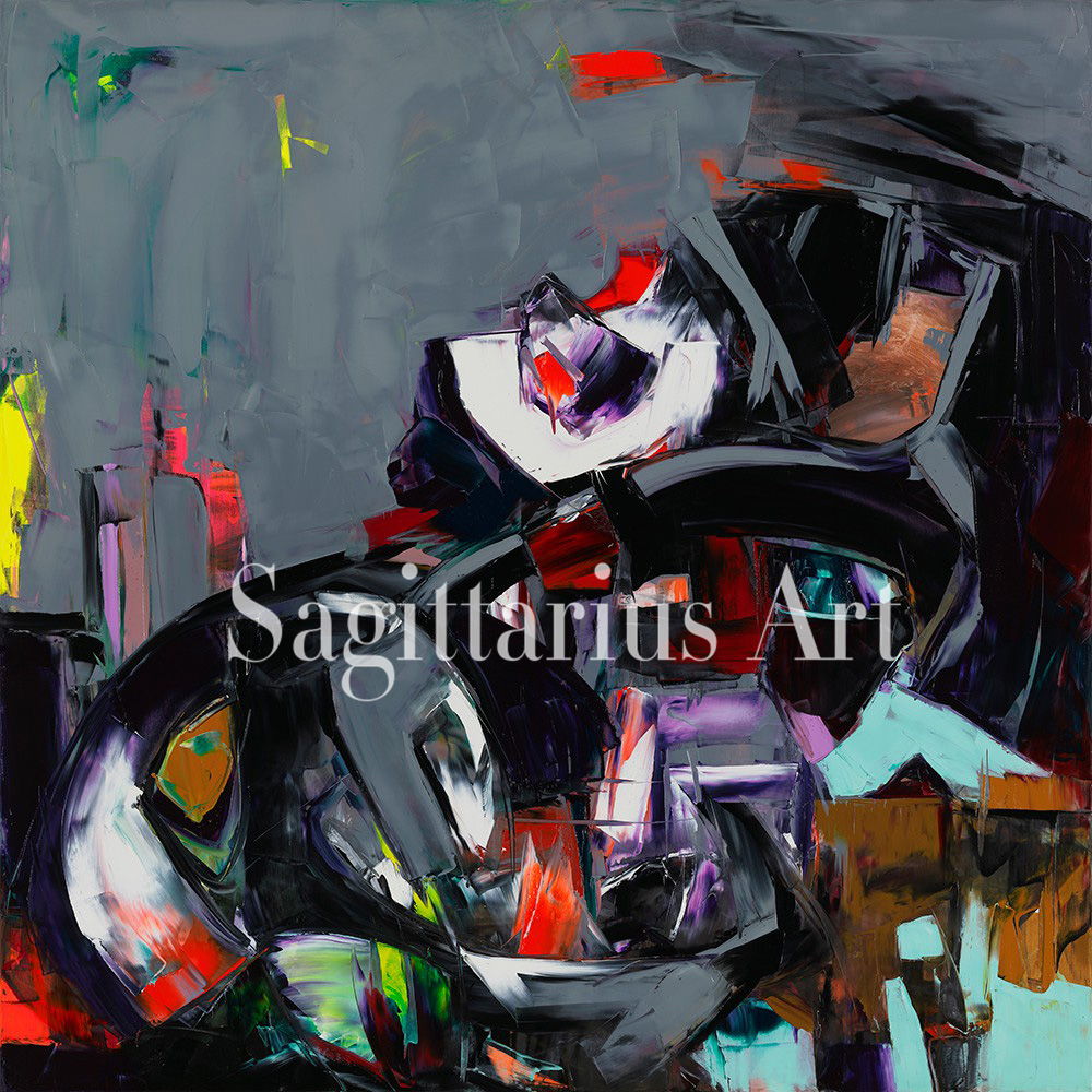 Hand Painted Abstract Secret from the Francoise Nielly font b Knife b font Palette oil Paintings