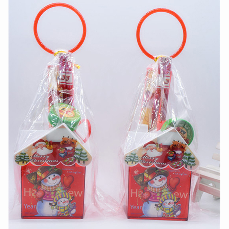 2 Sets/Lot Cute Snow Man Santa Claus Stationery Set Christmas Gifts Pencil Ruler Scissors Sharpener For School Student Children