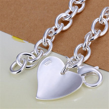 Exquisite Silver Plated Two Hearts Fashion Bracelet Jewelry
