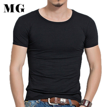 Mr.Gun Brand Brand Man Basic T-shirt Solid Color Slim Fit Short Sleeve T Shirt Smooth Fashion Men Casual Tees Summer t shirt