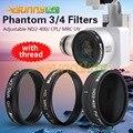 Sunnylife Phantom 3 4 CPL Фильтры Водонепроницаемый Multi Покрытия HD Регулируемая ND2-400 УФ с Резьбой для DJI Phantom3/4