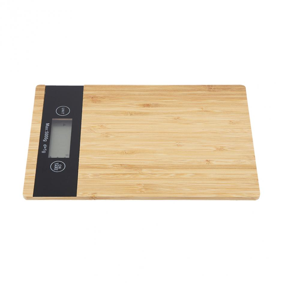 Digital Food Scale and Kitchen Scale with Wooden Surface And LED Display 9
