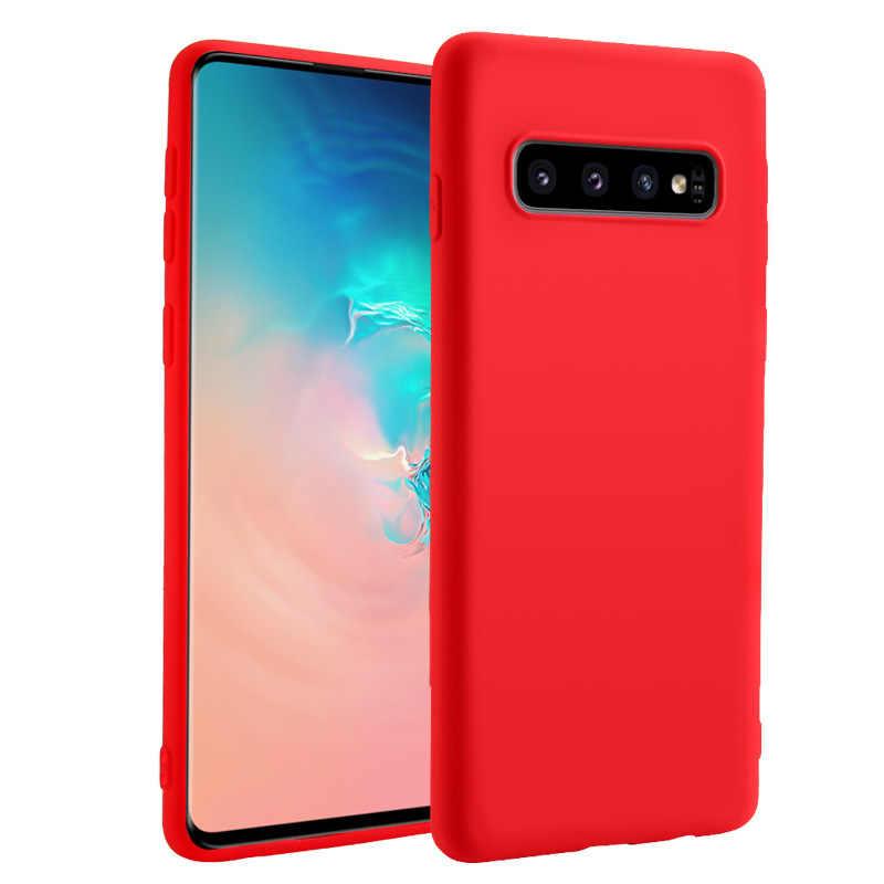 Orijinal sıvı silikon telefon samsung kılıfı A30 A40 A60 A70 M10 M20 S8 S9 S10 artı A7 2018 A10 not 8 9 İnce yumuşak arka kapak