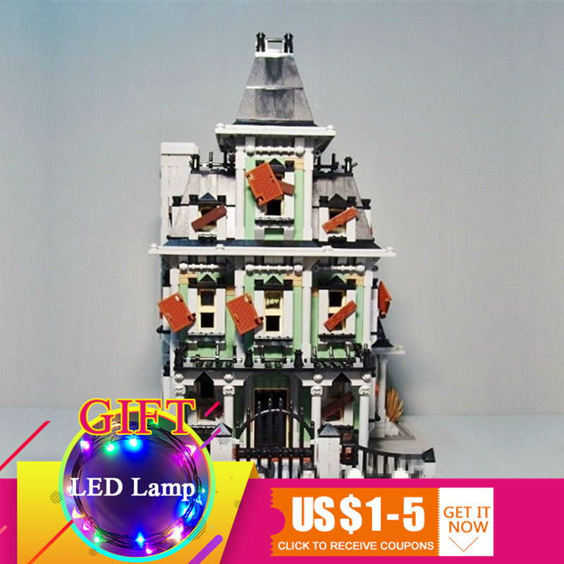 купить 16007 2141Pcs Monster fighter The haunted house Model set Compatible With 10228 Building block children DIY Toys gift по цене 5643.79 рублей