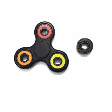 White Black Tri Spinner Fidget Toy Plastic EDC Hand Spinner For Autism and ADHD Anti stress