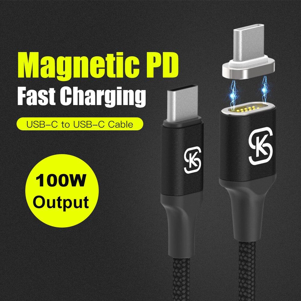 Unterhaltungselektronik Trendmarkierung Sikai Magnetic Charging Kabel 100 W Pd Schnelle Ladung Usb-c Typ-c Kabel Für Macbook Pro Laptop Handy Reversible Mag Kabel Zubehör Und Ersatzteile