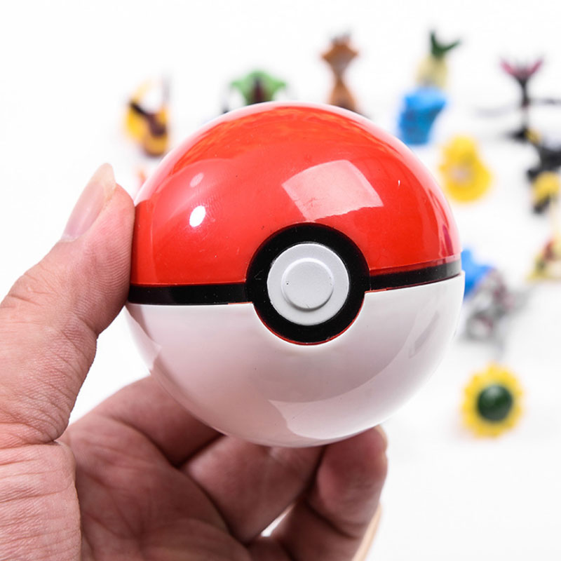 Anime 1pcs Pokeball+1pcs Random Figure Inside Action Figures Toys For Children Cool Collection Toys For Kid Birthday Gift
