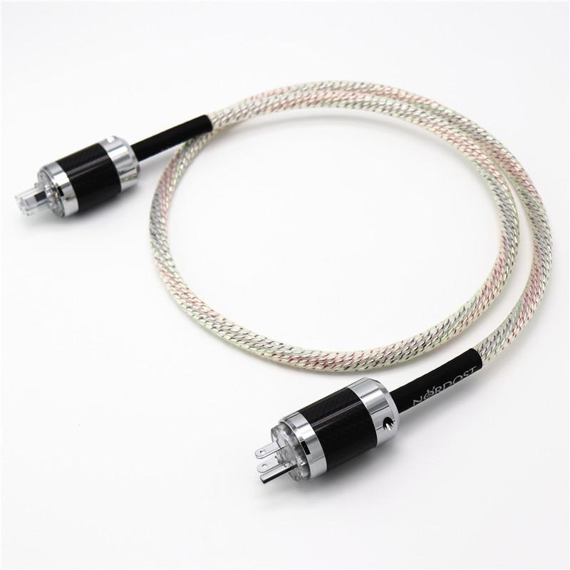 Hi End carbon fiber US EU AU version power plugs connector 9 cores 16AWG NORDOST Valhalla