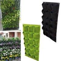 18 Pocket Felt Planter Bags For Plants Flower Garden Wall Vertical Grow Bags J2Y