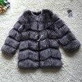 CP Marca Abrigo de Piel de Invierno de Las Mujeres Largas Abrigos de Imitación de Piel de Zorro peludo Chaqueta de Alta Calidad Abrigo de Piel de Imitación de Lujo Para Mujer De Piel Falsa chaqueta