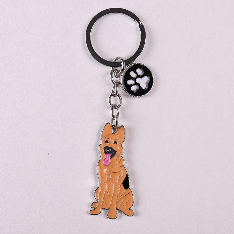 White Poodle Keyring Gift//Present Key Ring Figurine Keyring