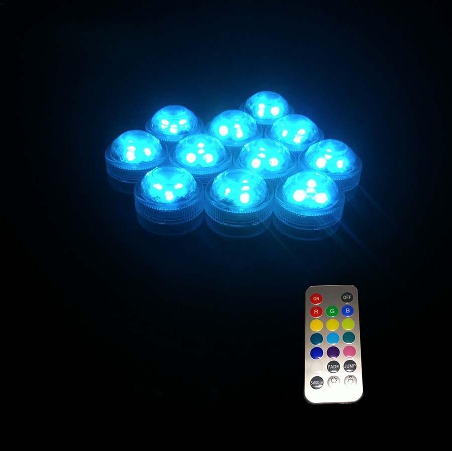 10pcs / Lot Super Bright 3LED Submersible LED Floralyte Light kalis - Pencahayaan perayaan - Foto 5