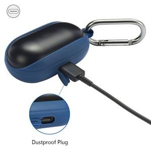 Image 2 - Silicon Abdeckung Fall für Samsung Galaxy Knospen Drahtlose Bluetooth Kopfhörer Ohrhörer Lade Box Stoßfest Protector mit Karabiner