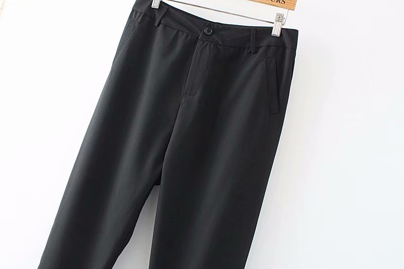 F42 Autumn Plus Size Women Clothing Ankle-length Pants 4XL Casual Fashion Loose straight Pants 8802 11