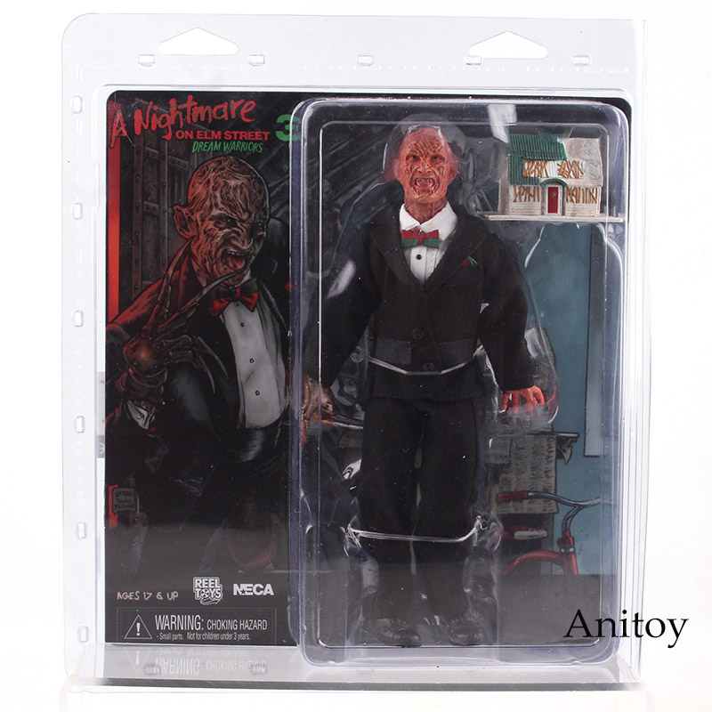 NECA A Nightmare on Elm Street 3 Dream Warriors Freddy Krueger & Light-up House PVC Horror Action Figures Collectible Model Toy
