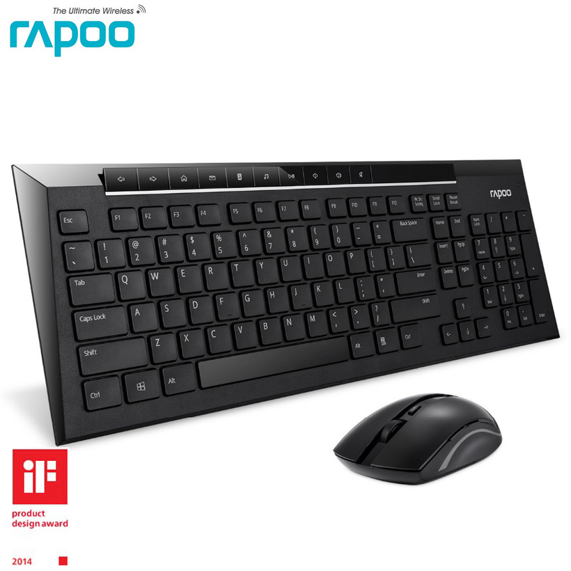 Android Bluetooth Keyboard Greek: Rapoo 8200P Slim Wireless Keyboard With Mouse MultiMedia Wireless Keyboard And Mouse For