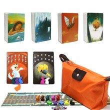 Dixit cartes jeu raconter histoire deck 1 2 3 4 5 6 7 8 total 336 cartes à jouer en bois lapin sac à fermeture éclair pour la fête de la famille jeu de société