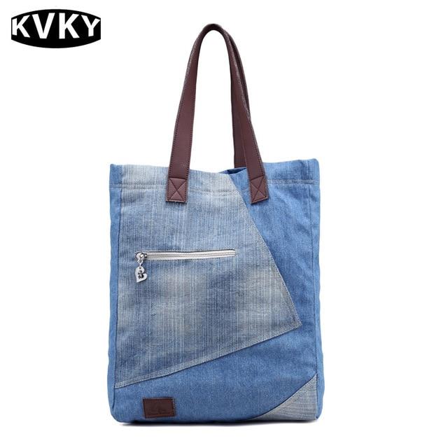 Vintage Fashion Denim Women Bag Jeans Shoulder Bags S Handbags Crossbody Messenger French
