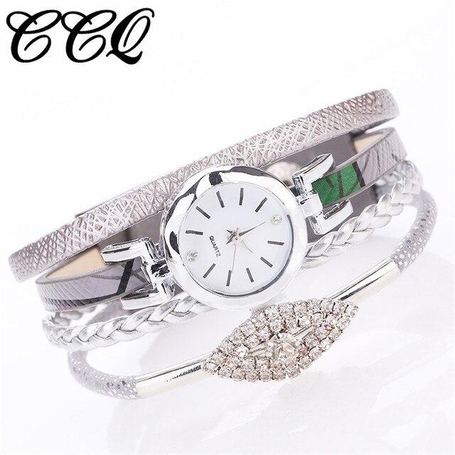 Montre Femme CCQ Fashion Watch Women Girls Analog Quartz Wristwatch Ladies Dress