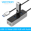 Venção USB Prot HUB 3.0 USB 3 Com Adaptador De Interface de Áudio Para Macbook PC Laptop Computador Tablet Windows 7/8/10