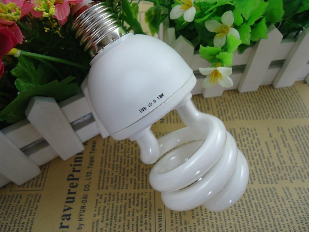 Reptile Compact Fluorescent Vivarium Lamp Light 10 0 UVB UVA UV CFL 26W E27 Screw Light