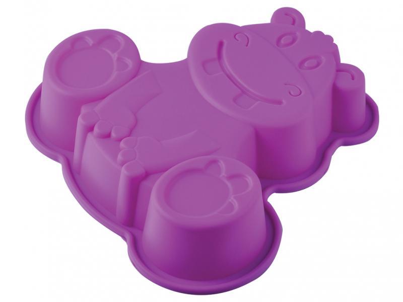 цена на Mold for baking REGENT INOX, SILICONE, Hippo, 20*20*4,5 cm