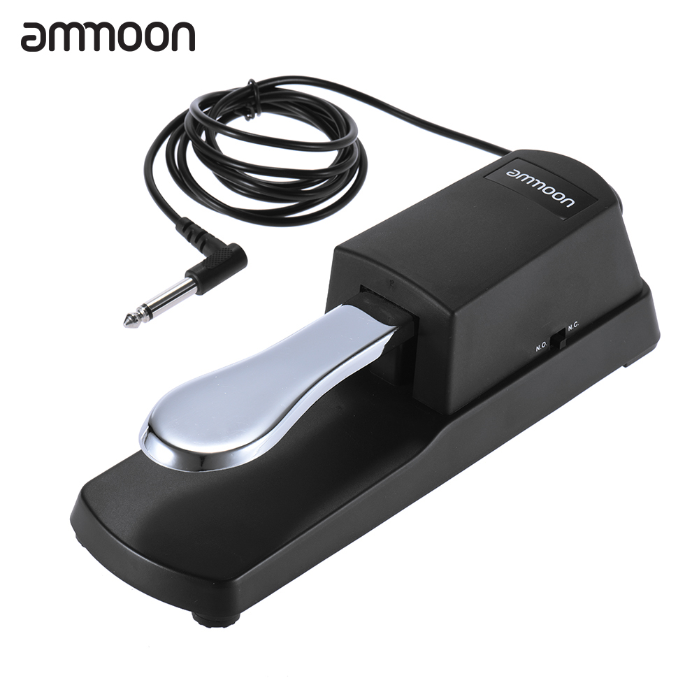 ammoon piano sustain pedal keyboard sustain damper pedal for roland electric piano electronic. Black Bedroom Furniture Sets. Home Design Ideas