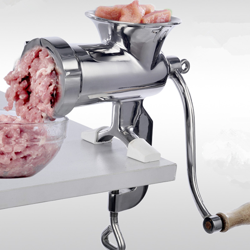 304 Stainless Steel Manual Meat Grinder 10# Size Vegetable Nuts Grinding Machine 304 Stainless Steel Manual Meat Grinder 10# Size Vegetable Nuts Grinding Machine