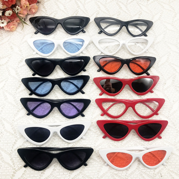 Mix Color 60 pairs/lot Bride Tribe Sunglasses Retro Cat Eye Sunglasses Party Sunglasses for Women Party Supplies Eyewear