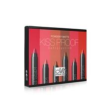 MENOW Brand Make up set 6 kiss proof Lipstick & Pencil sharpener & remover Cosmetic combination Waterproof Lip make up K906