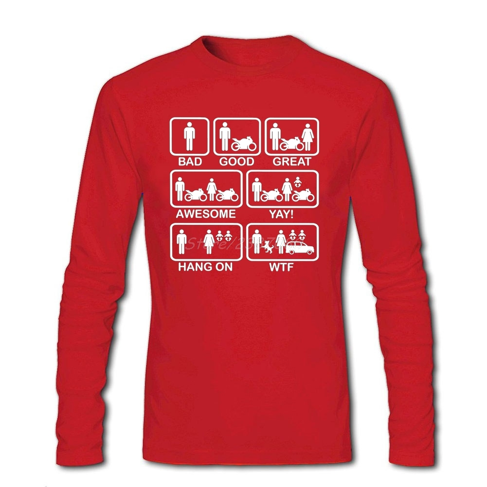 390f2fae4e5 Funny Motorbike Motorcycle Evolution T Shirt Long Sleeve T shirts For Men  Hiphop Car Styling Cotton Crewneck 3d T Shirts-in T-Shirts from Men s  Clothing on ...