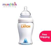 Munchkin Bebê Trava Garrafa 8 Oz frete grátis 1 Pacote BPA Livre de Silicone Copo crianças Garrafa De Água De Alimentação Do Bebê de Enfermagem garrafas