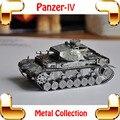 Cool MEN presente Panzer IV modelo 3D 2 ª guerra mundial alemão tanque de Metal modelo arma jogo de carro Puzzle DIY Home Office decoração brinquedo