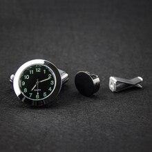 Novo Carro Ornamentos Relógio Mecânica Car Air Vent Clipe Relógio de Quartzo Relógio de Decoração