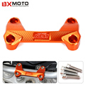 New Motorcycle Accessories Orange Motorcycle Cnc Aluminum Handlebar Risers Top Cover Clamp Fit For Ktm Duke 390 200 125