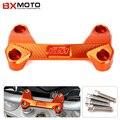 Nuevos accesorios de la motocicleta cubierta superior de orange motocicleta cnc de aluminio del manillar risers clamp fit para ktm duke 390 200 125
